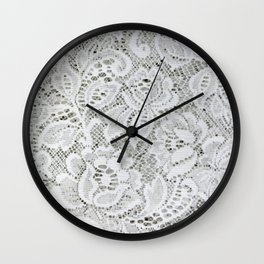Classic Floral White Lace Wall Clock