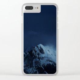 Moonlight on Aoraki / Mount Cook. Clear iPhone Case