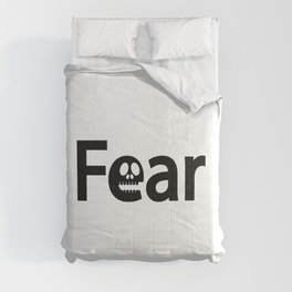Fear being scary / One word creative typography design Comforters