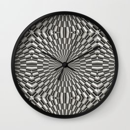 High tech silver metal surface Wall Clock