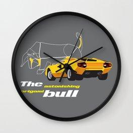 Origami Bull Wall Clock