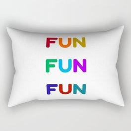fun fun fun colorful design Rectangular Pillow