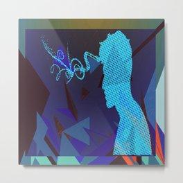 blue sorrow Metal Print
