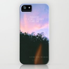 Paradise. iPhone Case