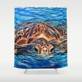 """Honu"" Shower Curtain"