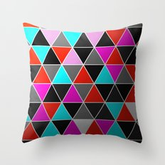 Industrial Triangles Throw Pillow