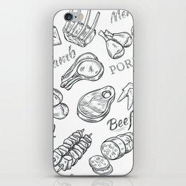 Funny Meat Food Art iPhone Skin