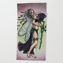Black Rose Absinthe by Bobbie Berendson W Beach Towel