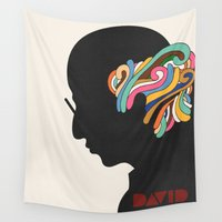 david Wall Tapestries featuring David by Nick Nelson