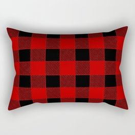 Buffalo Check - black / red Rectangular Pillow