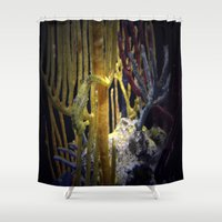 sea horse Shower Curtains featuring Sea horse hang on!  by Katie Jean Images
