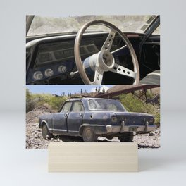 FALCON, ABANDONED CAR ON @TREN DE LAS NUBES, ARGENTINA Mini Art Print