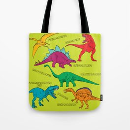 Dinosaur Print - Colors Tote Bag