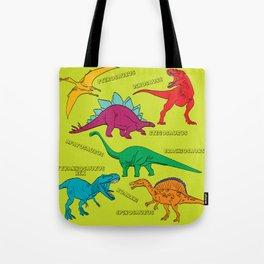 Dinosaur Print - Colors Tote Bag