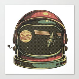 astronaut viewed Canvas Print
