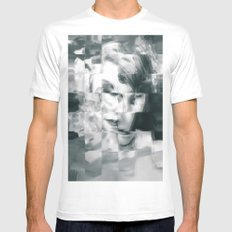 Young woman MEDIUM White Mens Fitted Tee