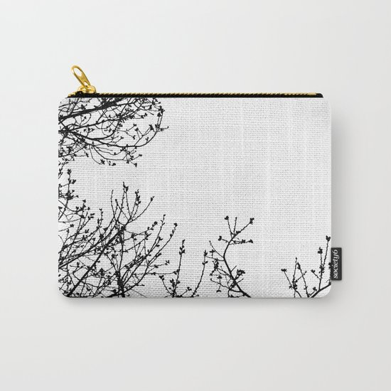 Zebra Branches Carry-All Pouch