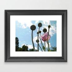 Poppies in the Sky Framed Art Print