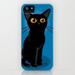 Looking at something iPhone Case