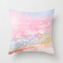Golden dreams Throw Pillow