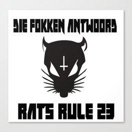 Rats Rule 23 Canvas Print