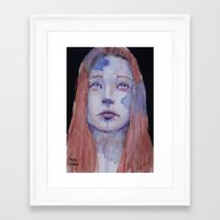 redhead Framed Art Prints featuring Redhead by SirScm