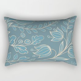 Blueprint Color of the year - Floral 5 Rectangular Pillow