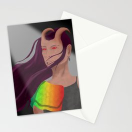 The Hellish part of Heaven and Hell Stationery Cards