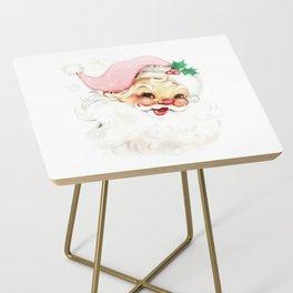 pink retro vintage santa Side Table