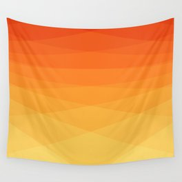 Orange to yellow ombre modern polygonal background Wall Tapestry