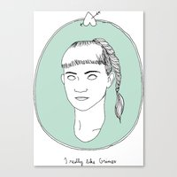 grimes Canvas Prints featuring Grimes by Anna Wanda Gogusey