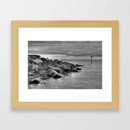Sea Defences Framed Art Print