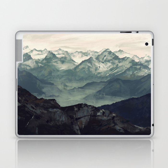 Mountain Fog Laptop & iPad Skin