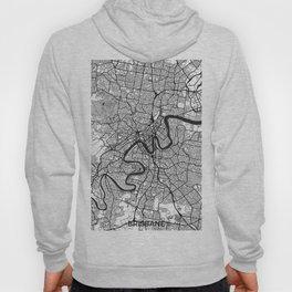 Brisbane Map Gray Hoody