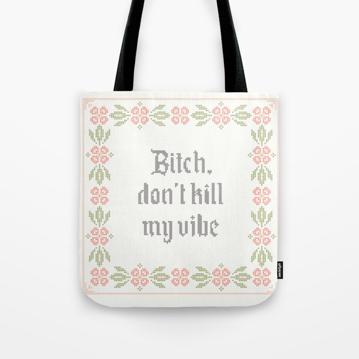 Vintage Inspired Throw Pillow With Rap Lyrics By Kendrick Lamar Tote Bag