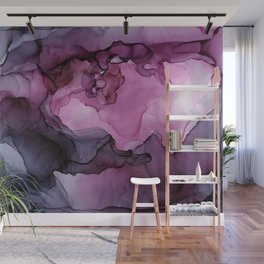 Abstract Ink Painting Ethereal Flowing Watercolor Nebula Wall Mural