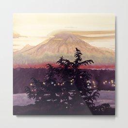 Bird's View of Mt. Rainier Metal Print