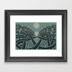 Celtic Winter Forest Framed Art Print