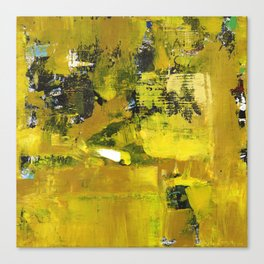 Waiter Yellow Abstract Modern Art Painting Canvas Print