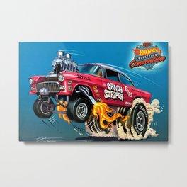 Hot Wheels Candy Striper 55 Gasser Poster Metal Print