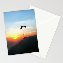 Sunset Paraglide Stationery Cards
