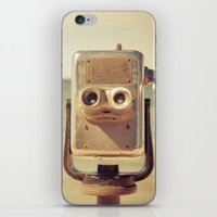 robot iPhone & iPod Skins featuring Robot Head by Olivia Joy StClaire