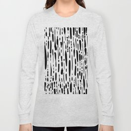 Ice Melt Black and White Long Sleeve T-shirt