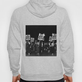 We Want Beer Too! Women Protesting Against Prohibition black and white photography - photographs Hoody