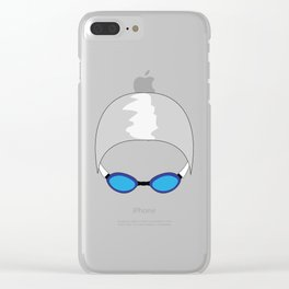 Swim Cap and Goggles Clear iPhone Case