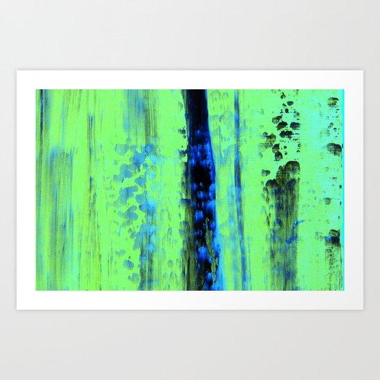 Urban Rain IV Painterly Abstract Art Print