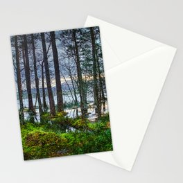 Flooding into the forest Stationery Cards