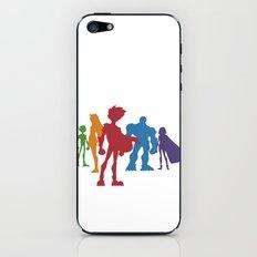 [ Teen Titans ] Robin, Starfire, Raven, Beast Boy and Cyborg iPhone & iPod Skin