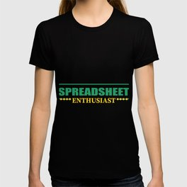 Accountant table spreadsheet gift T-shirt