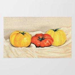 Heirloom tomatoes still life Rug